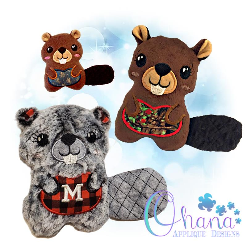 Maple Beaver Stuffie Embroidery