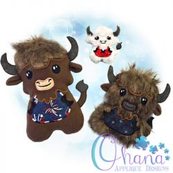 Buffy Bison Stuffie Embroidery