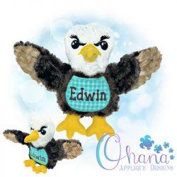Edwin Eagle Stuffie Embroidery