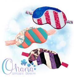 Flag Sleep Mask Embroidery