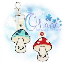 Kawaii Mushroom Key Chain