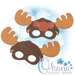Floral Moose Pretend Mask