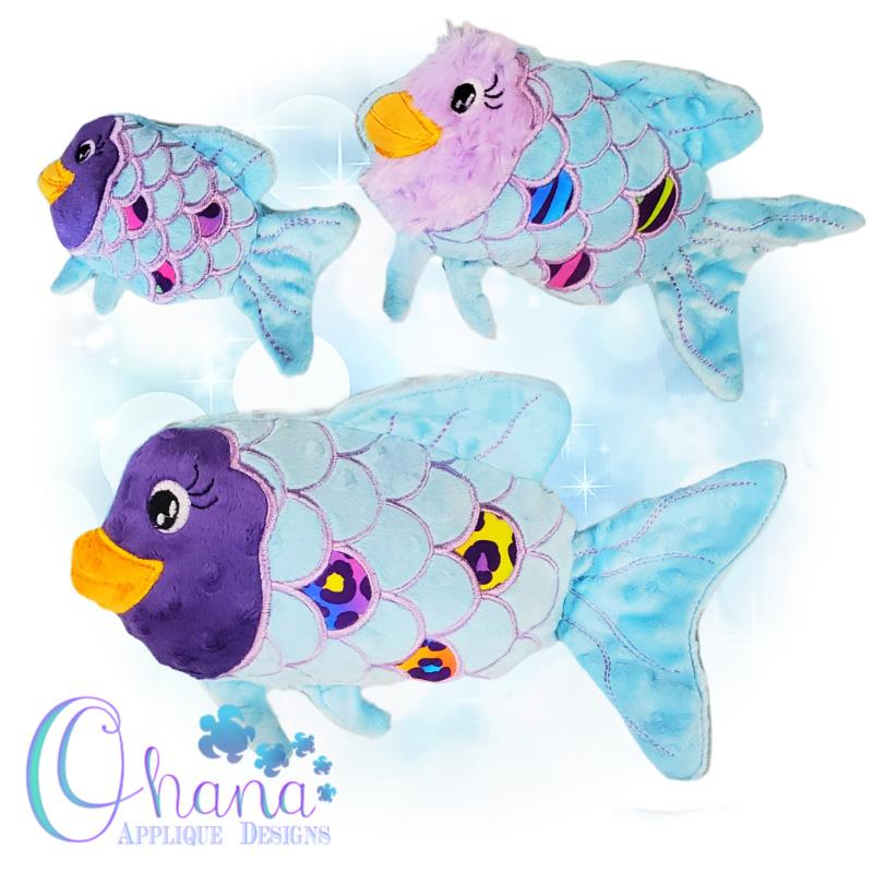Bubbles Fish Stuffie Embroidery