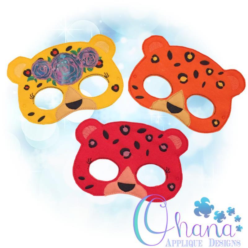 Floral Leopard Pretend Mask