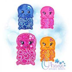 Jellyfish Feltie Embroidery Design