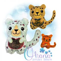 Spots the Leopard Stuffie Embroidery