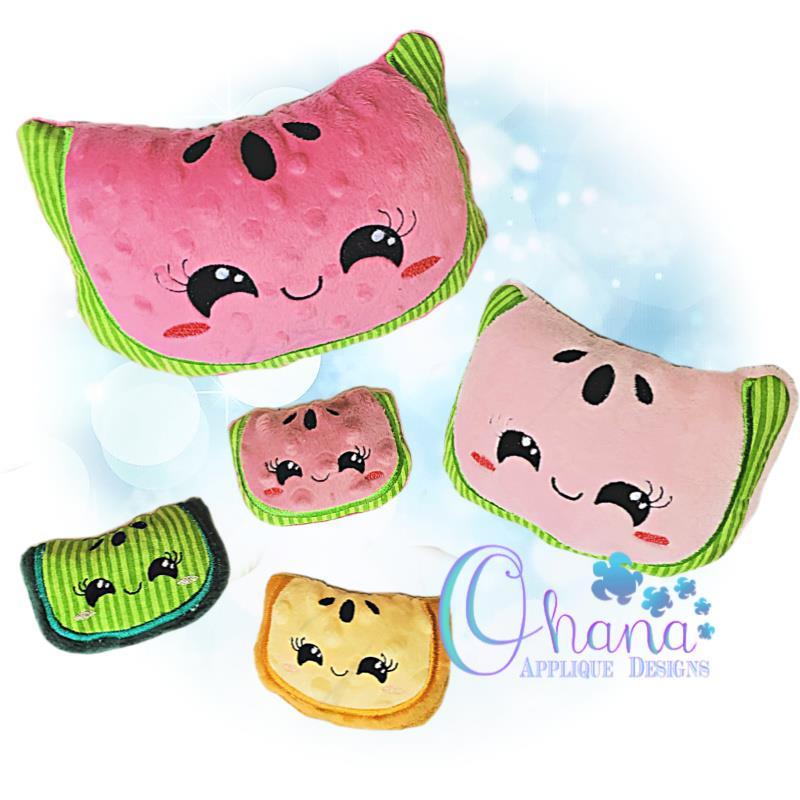Kawaii Watermelon Stuffie Embroidery