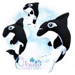 Splash Orca Stuffie Embroidery