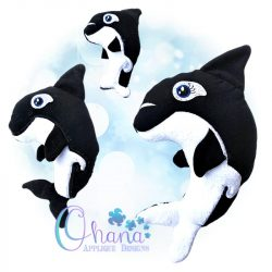 Splash Orca Stuffie Embroidery