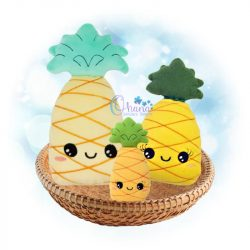 Kawaii Pineapple Stuffie Embroidery