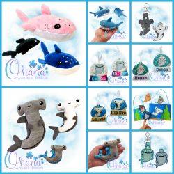 Shark Bundle Embroidery Design
