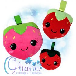 Kawaii Strawberry Stuffie Embroidery