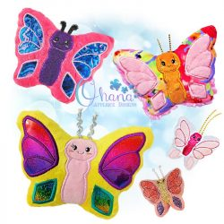 Flutter Butterfly Stuffie Embroidery