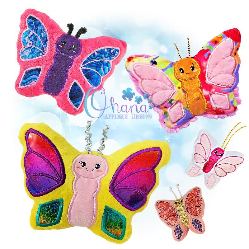 Flutter Butterfly Stuffie Embroidery