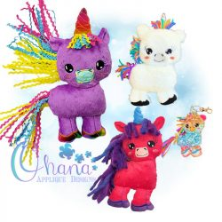 Cheer Unicorn Stuffie Embroidery
