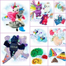 Unicorn and Dragon Bundle Embroidery