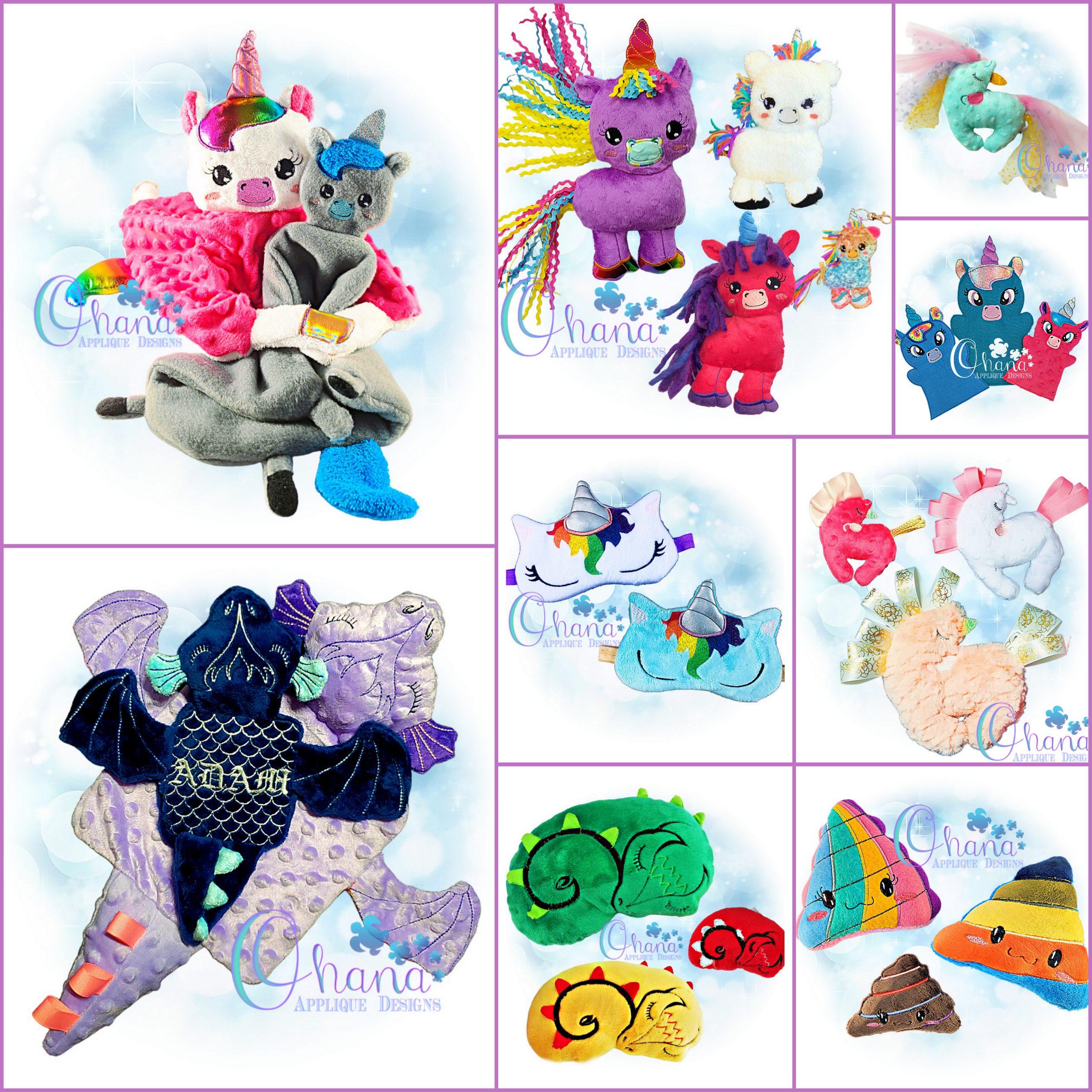 Unicorn and Dragon Bundle Embroidery