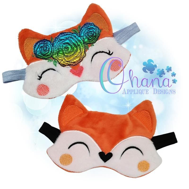 Floral Fox Sleep Mask Design