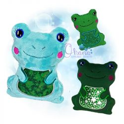 Hoppy Frog Stuffie Embroidery