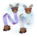 Floral Moose Ribbon Bookmark