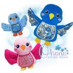 Bella Bluebird Stuffie Embroidery