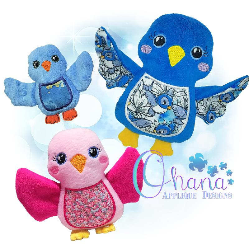 Bella Bluebird Stuffie Embroidery