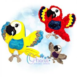 Pepper Parrot Stuffie Embroidery