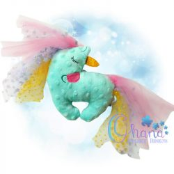 Sleeping Unicorn Stuffie Embroidery