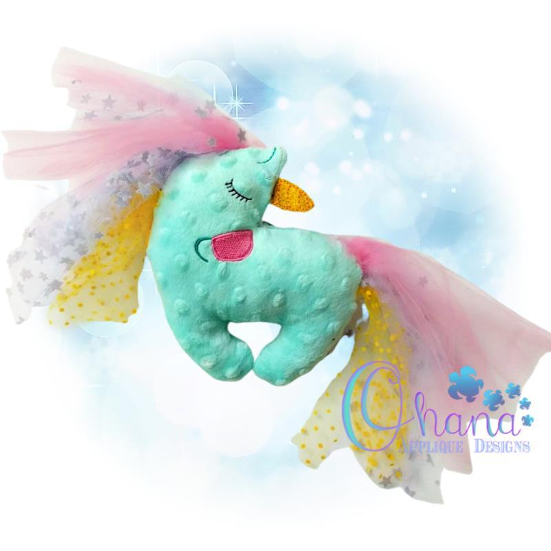 Sleeping Unicorn Stuffie Embroidery