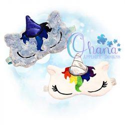 Sleeping Unicorn Sleep Mask Design