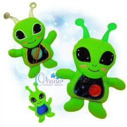 Blaorlgg Alien Stuffie Embroidery
