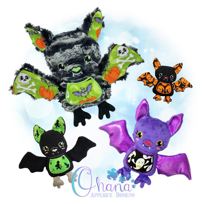 Twilight Bat Stuffie Embroidery