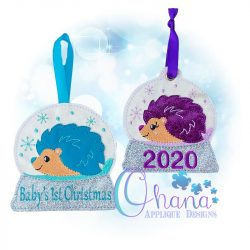 Harriet Hedgehog Snowglobe Ornament