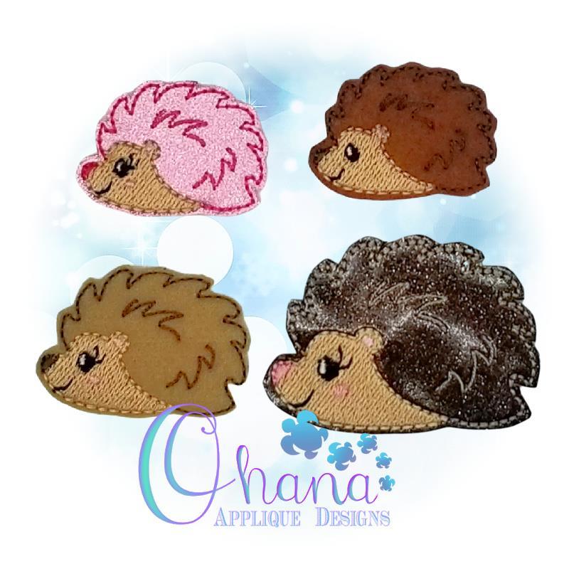 Harriet Hedgehog Feltie Embroidery