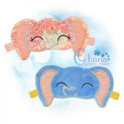 Floral Elephant Sleep Mask Design