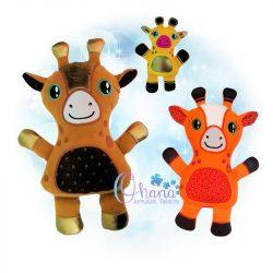 Geo Giraffe Stuffie Embroidery