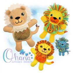 Lejon Lion Stuffie Embroidery