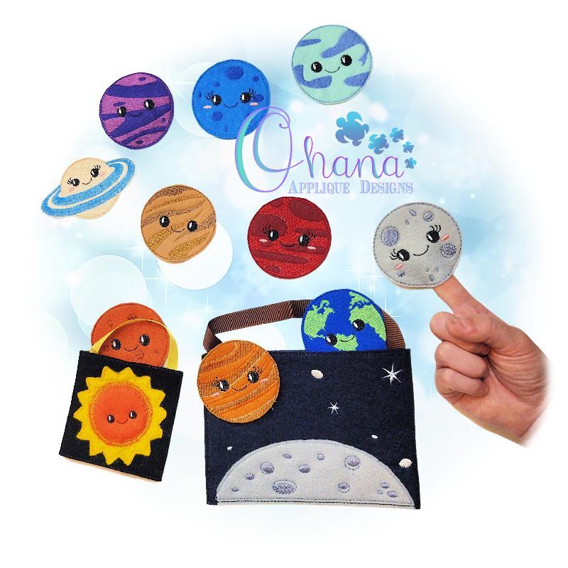 Kawaii Space Finger Puppets