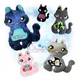Salem Kitty Stuffie Embroidery