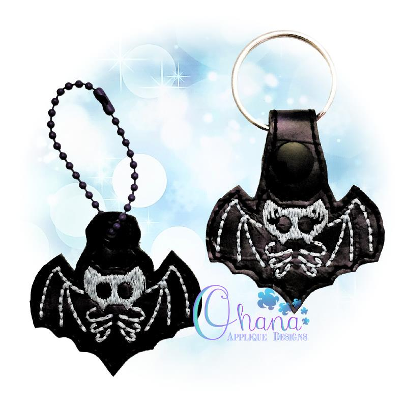 Skelly Bat Key Chain