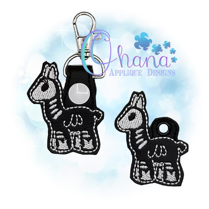 Skelly Llama Key Chain