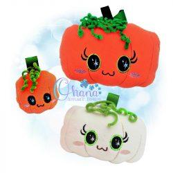 Fall Pumpkin Stuffie Embroidery