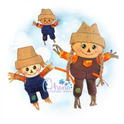 Patches Scarecrow Stuffie Embroidery