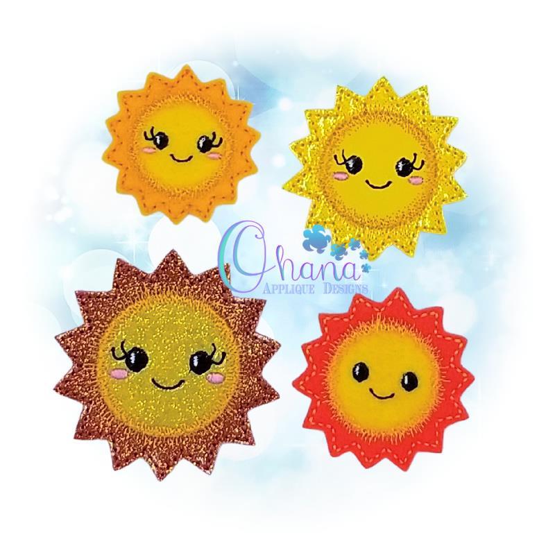 Happy Sun Feltie Embroidery