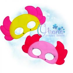 Axolotl Pretend Mask Embroidery