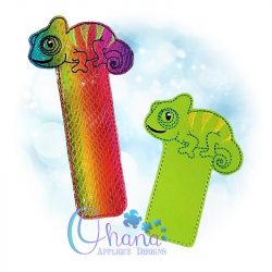 Chameleon Bookmark Embroidery Design