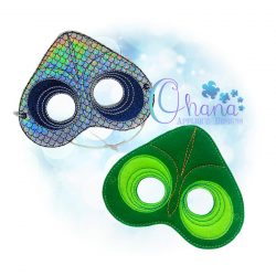 Chameleon Pretend Mask Embroidery