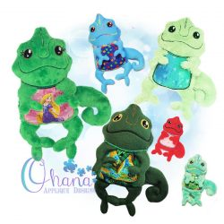 Cammie Chameleon Stuffie Embroidery