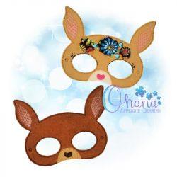 Floral Kangaroo Mask Embroidery