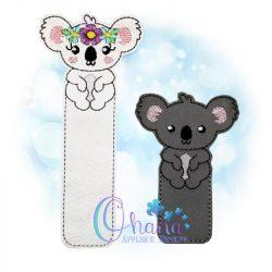 Floral Koala Bookmark Embroidery